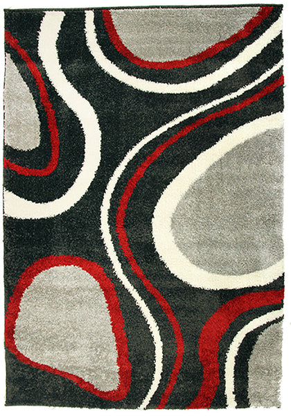 Diva 2164 Charcoal Modern Rug in Size 160cm x 230cm-Rugs 4 Less