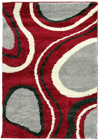 Diva 2164 Red Modern Rug in Size 160cm x 230cm-Rugs 4 Less