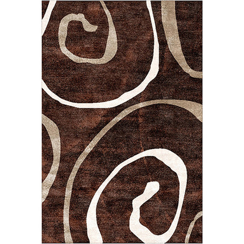 Diva 2179 Brown Small Modern Rug in Size 120cm x 160cm-Rugs 4 Less