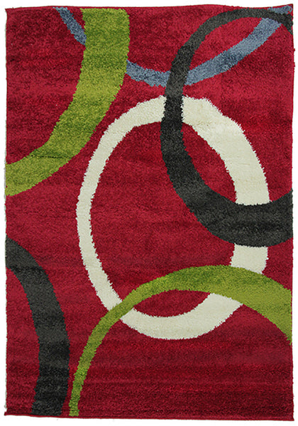 Diva 2233 Red Modern Rug in Size 160cm x 230cm-Rugs 4 Less