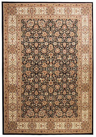 Elegance 1339 Black Large Traditional Rug in Size 200cm x 290cm-Rugs 4 Less