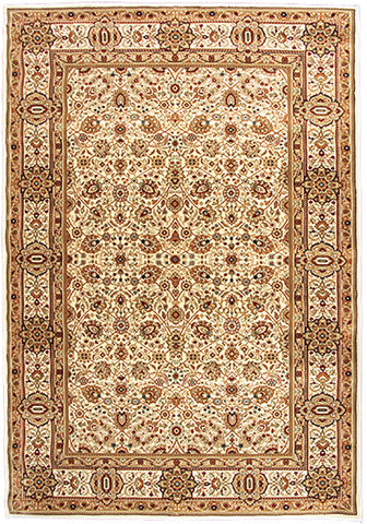 Elegance 1339 Cream Small Traditional Rug in Size 120cm x 170cm-Rugs 4 Less