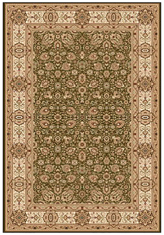 Elegance 1339 Green Small Traditional Rug in Size 120cm x 170cm-Rugs 4 Less