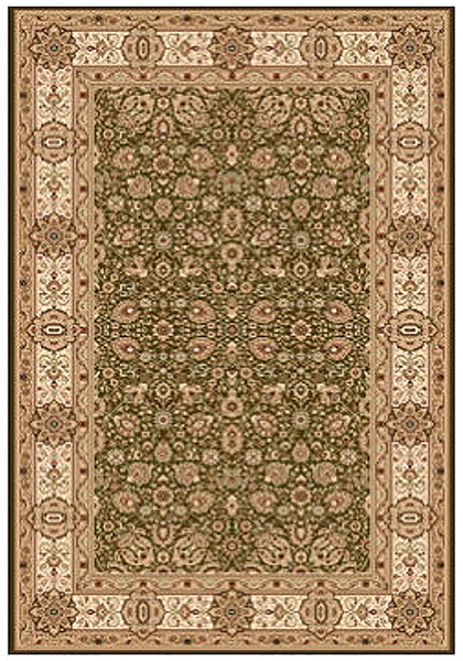 Elegance 1339 Green Large Traditional Rug in Size 200cm x 290cm-Rugs 4 Less