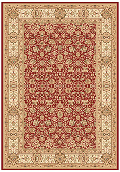 Elegance 1339 Red Large Traditional Rug in Size 200cm x 290cm-Rugs 4 Less