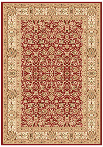 Elegance 1339 Red Small Traditional Rug in Size 120cm x 170cm-Rugs 4 Less