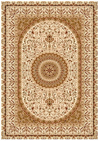 Elegance 1340 Cream Traditional Rug in Size 160cm x 230cm-Rugs 4 Less