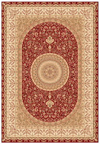 Elegance 1340 Red Small Traditional Rug in Size 120cm x 170cm-Rugs 4 Less