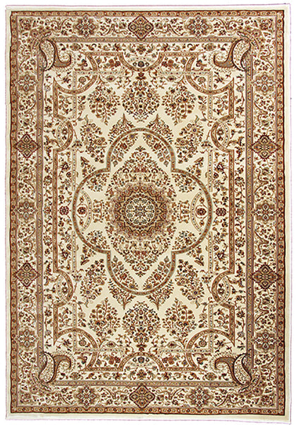Elegance 1341 Cream Small Traditional Rug in Size 120cm x 170cm-Rugs 4 Less