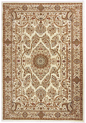 Elegance 1341 Cream Traditional Rug in Size 160cm x 230cm-Rugs 4 Less