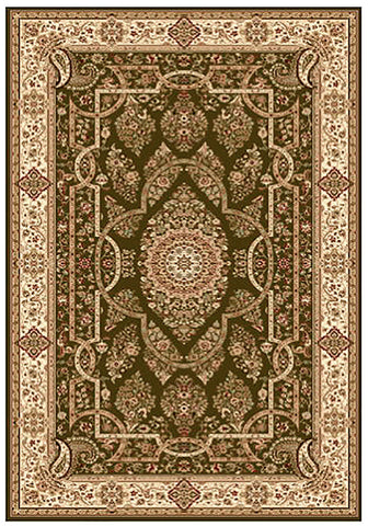 Elegance 1341 Green Large Traditional Rug 200x290cm-Large Traditional Rug-Rugs 4 Less