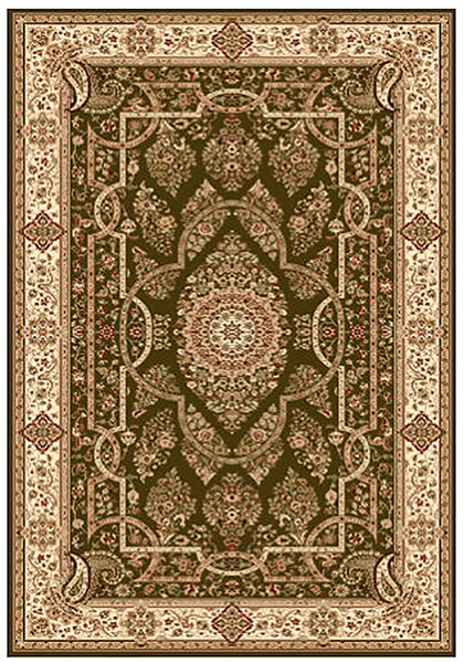 Elegance 1341 Green Large Traditional Rug in Size 200cm x 290cm-Rugs 4 Less
