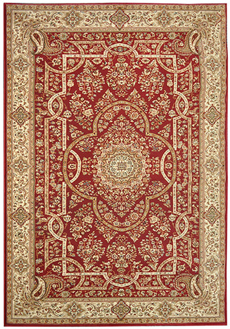 Elegance 1341 Red Small Traditional Rug in Size 120cm x 170cm-Rugs 4 Less