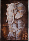 Animal Rug Elephant 140x190cm - Rugs 4 Less