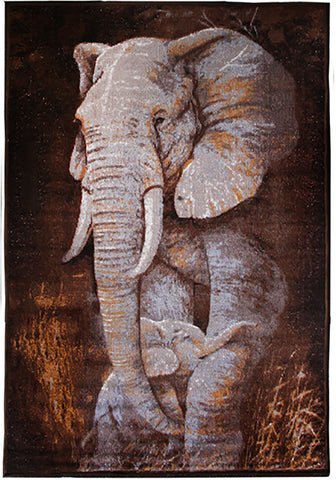 Animal Print Rug Elephant in Size 140cm x 190cm-Rugs 4 Less