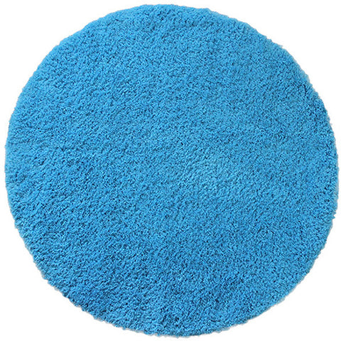 Drylon Round Mat Blue in Size Round 90cm-Rugs 4 Less