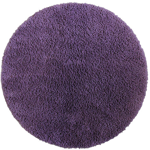 Drylon Round Mat Purple in Size Round 90cm-Rugs 4 Less