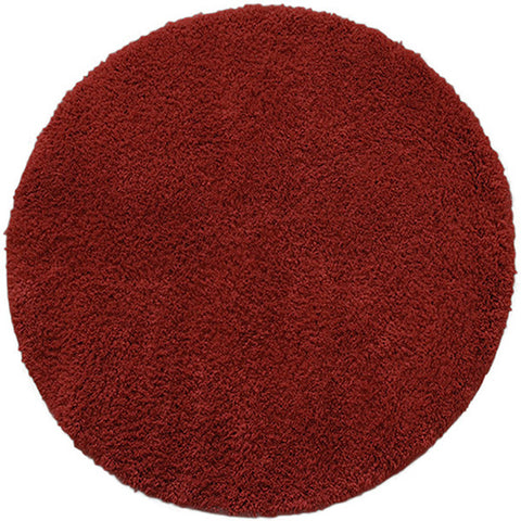 Drylon Round Mat Red in Size Round 90cm-Rugs 4 Less