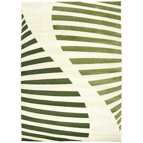 Jupiter-1 Green Cream Modern Rug in Size 160cm x 230cm-Rugs 4 Less