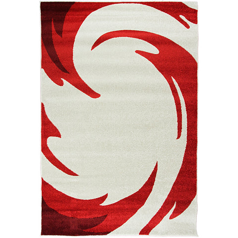 Jupiter-2 Red Modern Rug in Size 160cm x 230cm-Rugs 4 Less
