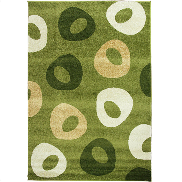 Jupiter-4 Large Green Modern Rug in Size 200cm x 290cm-Rugs 4 Less
