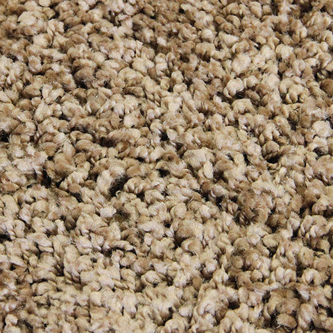 Lush Taupe Small Shag Rug in Size 120cm x 170cm-Rugs 4 Less
