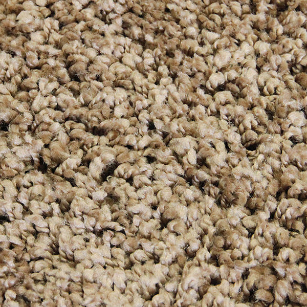 Lush Taupe Large Shag Rug in Size 200cm x 290cm-Rugs 4 Less