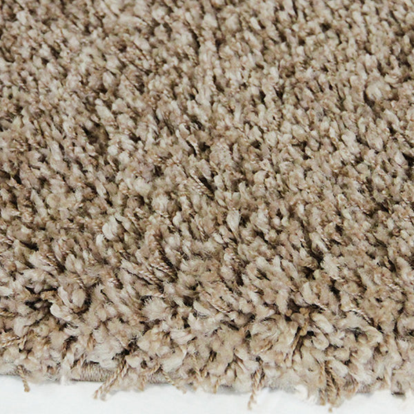 Luxus Taupe Small Shag Rug in Size 120cm x 170cm-Rugs 4 Less