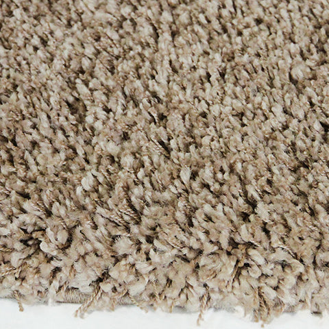 Luxus Taupe Large Shag Mat 80x130cm-Large Shag Mat-Rugs 4 Less