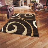 Monte-Carlo 8590A D-Brown-FD Rug in Size 160cm x 230cm-Rugs 4 Less