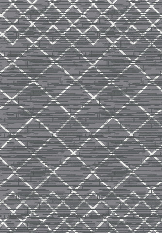 Metro 300 Grey Rug in Size 160cm x 230cm-Rugs 4 Less
