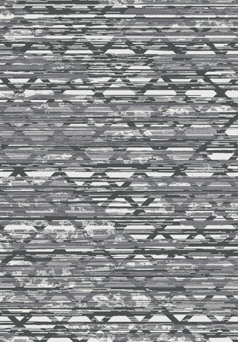Metro 400 Grey Rug in Size 160cm x 230cm-Rugs 4 Less