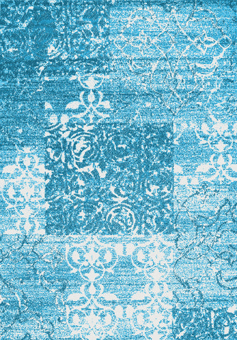 Metro 502 Blue Rug in Size 160cm x 230cm-Rugs 4 Less