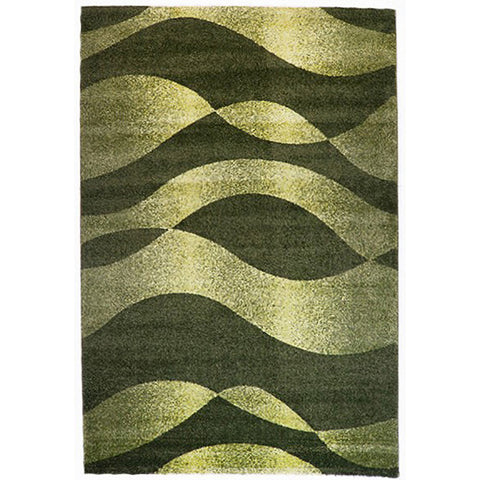 Milano 789 Green Large Mat in Size 80cm x 130cm