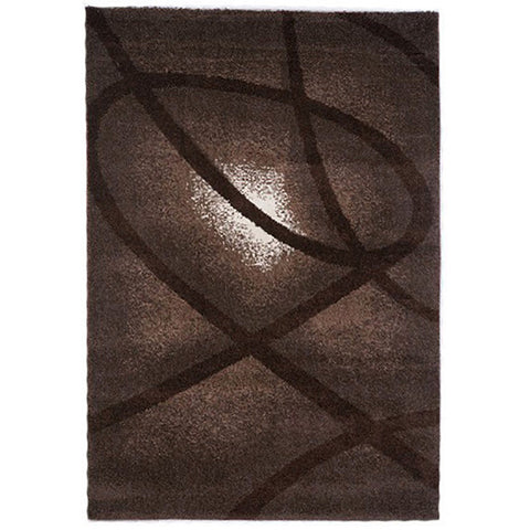 Milano 790 Brown Small Modern Rug in Size 120cm x 170cm-Rugs 4 Less