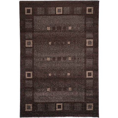 Milano 815 Brown Large Mat in Size 80cm x 130cm