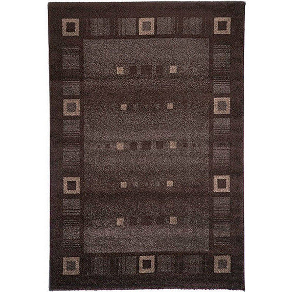 Milano 815 Brown Large Mat in Size 80cm x 130cm-Rugs 4 Less