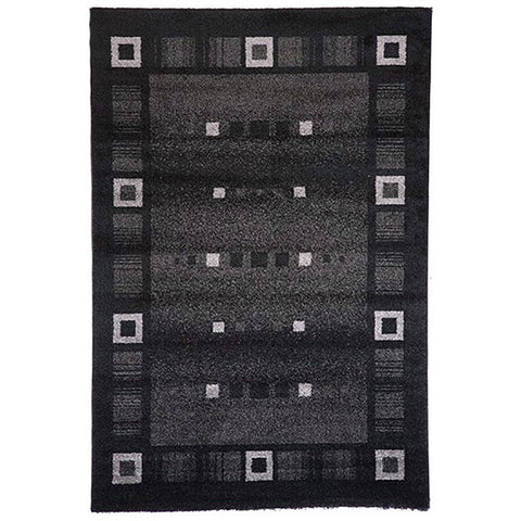 Milano 815 Black Extra Large Rug in Size 240cm x 340cm-Rugs 4 Less