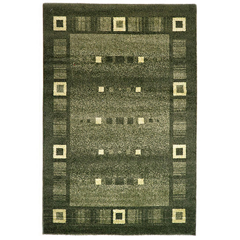 Milano 815 Green Large Mat in Size 80cm x 130cm