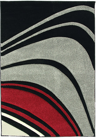 Monte-Carlo 4341B Blk-Fume Rug in Size 160cm x 230cm-Rugs 4 Less