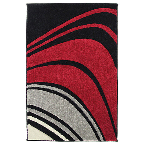 Monte-Carlo 4341A Black Large Mat in Size 80cm x 130cm-Rugs 4 Less