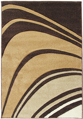 Monte-Carlo 4341A Brown Small Modern Rug in Size 120cm x 160cm-Rugs 4 Less