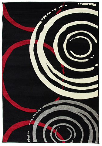 Monte-Carlo 7687A Black Large Mat in Size 80cm x 130cm-Rugs 4 Less
