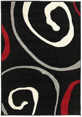 Monte-Carlo 8590A Black Large Mat in Size 80cm x 130cm-Rugs 4 Less