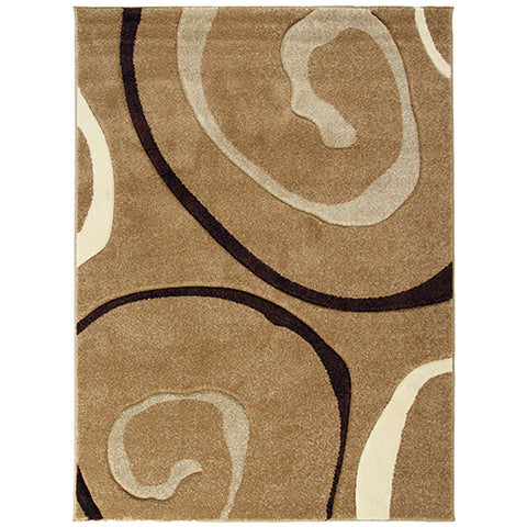 Monte-Carlo 8590A Beige Small Modern Rug in Size 120cm x 160cm-Rugs 4 Less