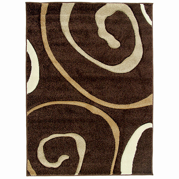 Monte-Carlo Rug 8590A D-Brown-FD 80x130cm-Rugs 4 Less
