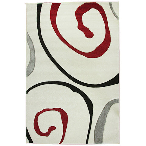 Monte-Carlo 8590A Cream Large Mat in Size 80cm x 130cm-Rugs 4 Less
