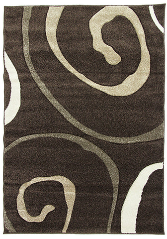 Monte-Carlo Rug 8590A D-Br-Fume-FB 80x130cm by Rugs4Less