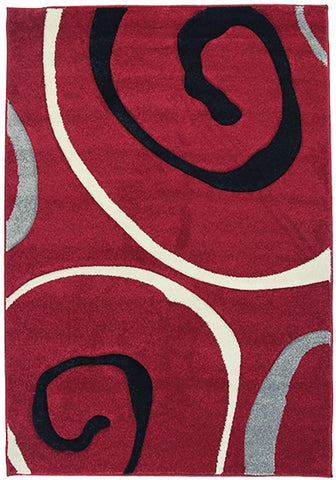 Monte-Carlo 8590A Red Large Mat in Size 80cm x 130cm-Rugs 4 Less