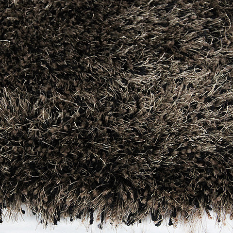 Monterey Shag Rug Choc-Black 180x270cm by Rugs4Less